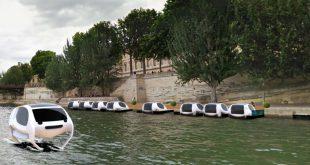 Un assureur mutualiste a investi 3 millions d'€uros dans les taxis qui voleront sur la Seine à Paris en 2017